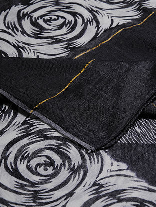 Block-printed Cotton Blend Dupatta