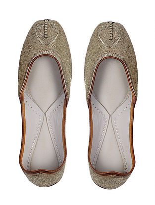 Gold Handcrafted Leather Juttis