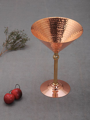 Handcrafted Copper Martini Glass (L: 5in, W:5in, H:2in)