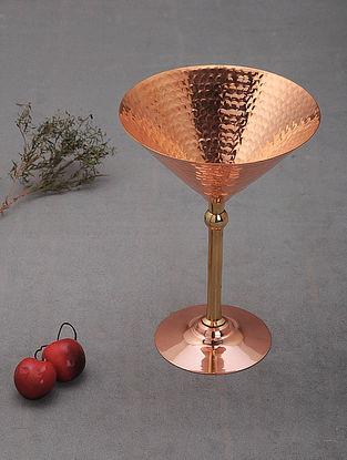 Handcrafted Copper Martini Glass (L: 5in, W:5in, H:2in)