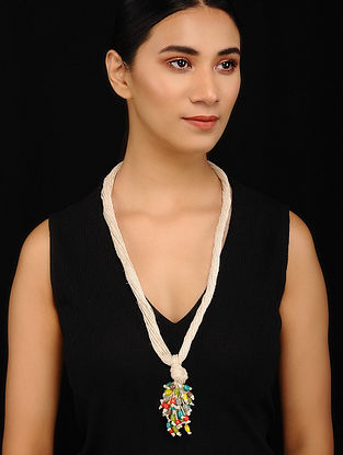 Multicolored Handcrafted Jute Necklace