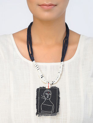 Black-White Handcrafted Necklace