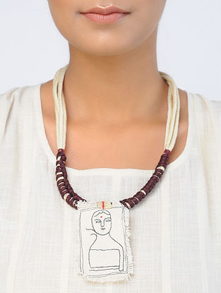 Cream-Brown Handcrafted Necklace