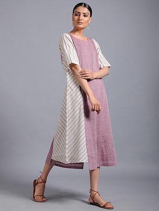 Purple Khadi Dress