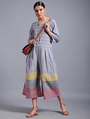 Multicolored Striped Khadi Jumpsuit