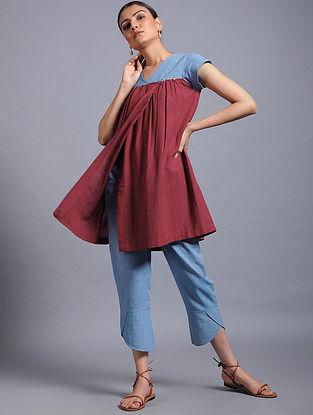 Red-Blue Khadi Top