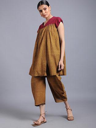 Brown-Red Khadi Top