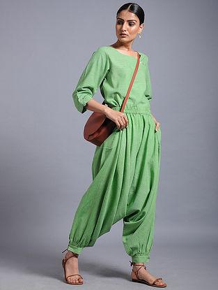 Green Striped Khadi Top