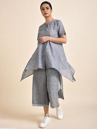 Grey Handwoven Cotton Shirt