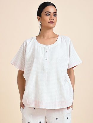 Ivory Handwoven Cotton Top