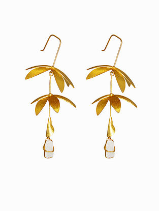 Moonstone Gold Plated Handcrafted Earrings