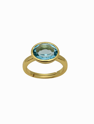 Topaz Gold Plated Handcrafted Ring