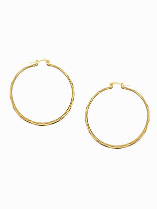 Gold Plated Handcrafted Hoops Earrings