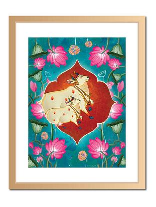 Holy Cow Pichwai Digital Art on Paper