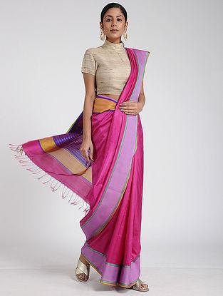 Pink Maheshwari Silk Saree