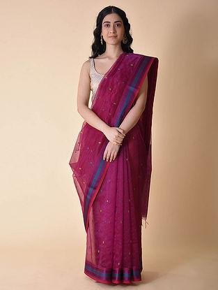Pink Handwoven Maheshwari Saree