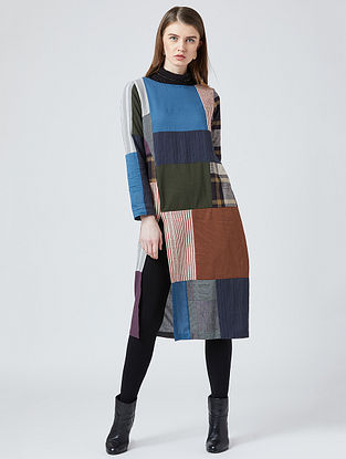Multicolored Cotton Tunic With Patchwork