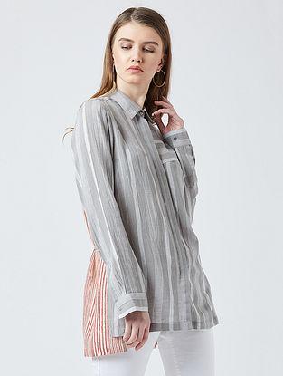 Grey-Rust Cotton Shirt