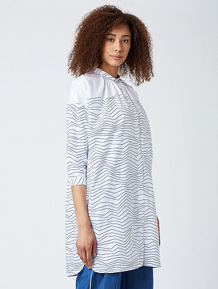 White Striped Cotton Shirt