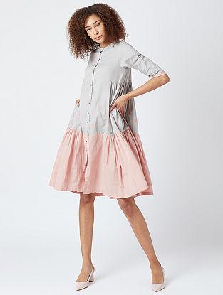 Grey Cotton Oversized Tunic