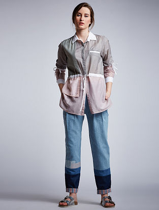 Grey Cotton Modal Shirt