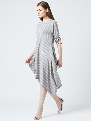 Grey Cotton Oversized Dress