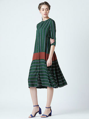 Seville Green Red Rayon Dress