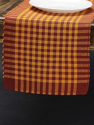 Brown-Orange Cotton Runner(L:68in x W: 13in)