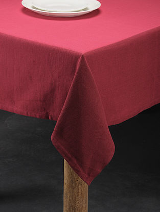 Mutlicolored Handwoven Cotton 6 Seater Table Cover (86in x 56in)