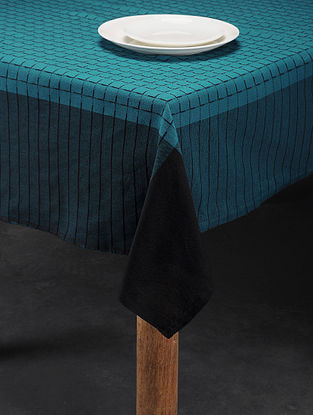 Mutlicolored Handwoven Cotton 4 Seater Table Cover (58in x 58in)