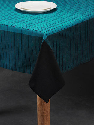 Mutlicolored Handwoven Cotton 6 Seater Table Cover (90in x 58in)