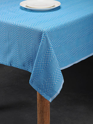 Mutlicolored Handwoven Cotton 6 Seater Table Cover (90in x 60in)