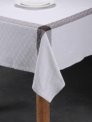 Mutlicolored Handwoven Cotton 4 Seater Table Cover (61in x 60in)