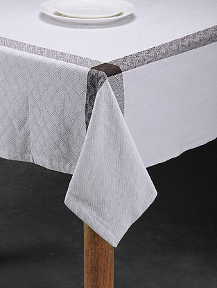 Mutlicolored Handwoven Cotton 6 Seater Table Cover (91in x 60in)