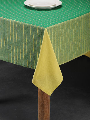 Mutlicolored Handwoven Cotton 6 Seater Table Cover (94in x 60in)