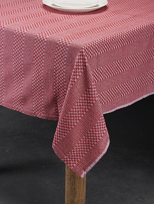 Mutlicolored Handwoven Cotton 4 Seater Table Cover (60in x 60in)