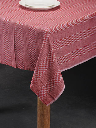 Mutlicolored Handwoven Cotton 6 Seater Table Cover (90in x 59in)