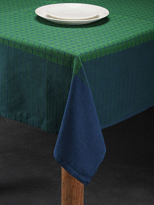 Mutlicolored Handwoven Cotton 4 Seater Table Cover (59in x 59in)