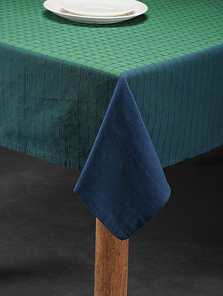 Mutlicolored Handwoven Cotton 6 Seater Table Cover (88in x 59in)