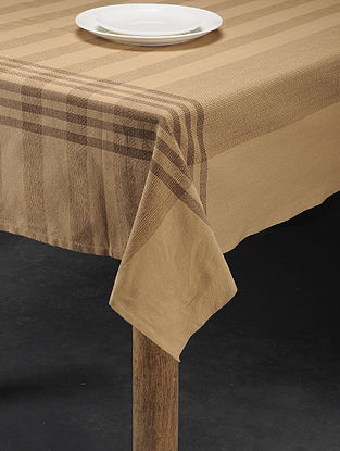 Mutlicolored Handwoven Cotton 6 Seater Table Cover (86in x 60in)