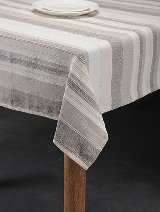 Mutlicolored Handwoven Cotton 6 Seater Table Cover (98in x 62in)