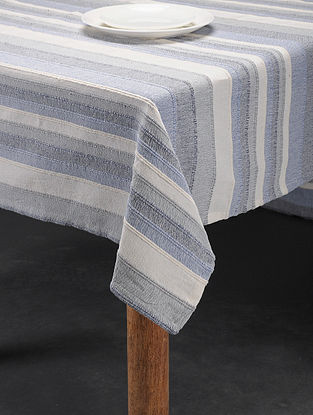 Mutlicolored Handwoven Cotton 6 Seater Table Cover (94in x 61in)