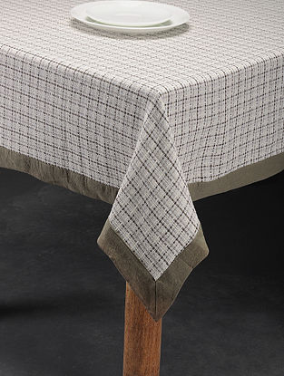 Mutlicolored Handwoven Cotton 6 Seater Table Cover (81in x 59in)