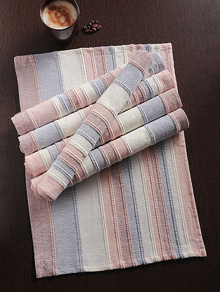 Multicolor Handwoven Cotton Table Mat (Set of 6) (18.5in x 13in)