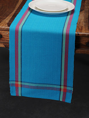 Multicolored Cotton Table Runner (76in x 13in)