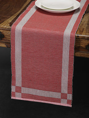 Red Cotton Table Runner (70in x 13in)