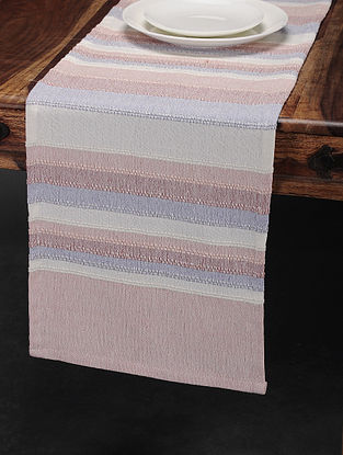 Multicolored Cotton Table Runner (71in x 13.5in)