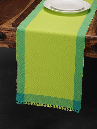 Multicolored Cotton Table Runner (70in x 13in)