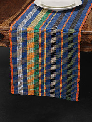 Multicolored Cotton Table Runner (68in x 13.5in)