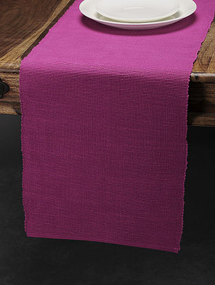 Pink Cotton Table Runner (70in x 13in)